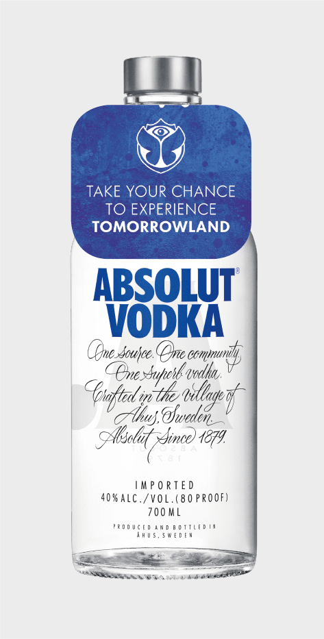 Absolut Vodka Blue Bottle