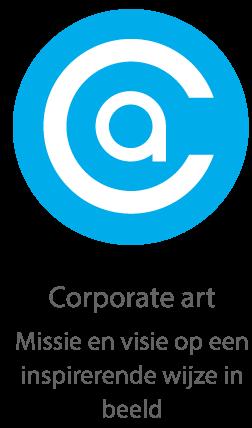 Corporate art Missie en visie op een inspirerende wijze in beeld