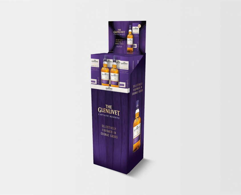 Studio Baat - The Glenlivet Captain's Reserve display